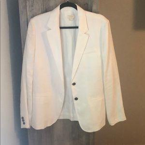 White linen JCrew blazer